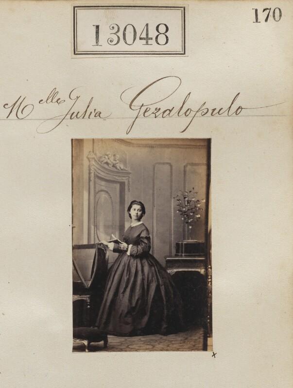 Julia Sevastopulo (née Geralopulo), by Camille Silvy, April 1863 - NPG Ax62689 - © National Portrait Gallery, London