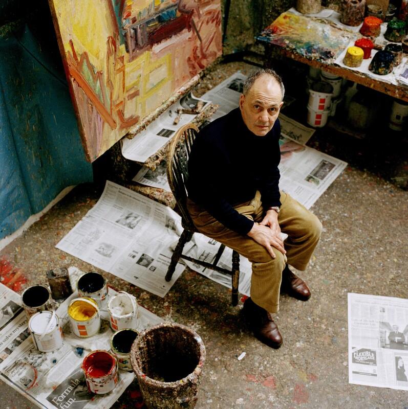 Frank Auerbach, by Eamonn McCabe, 2003 - NPG x131778 - © Eamonn McCabe