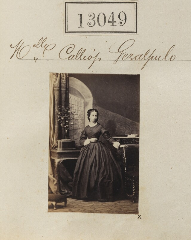 Calliope Geralopulo, by Camille Silvy, April 1863 - NPG Ax62690 - © National Portrait Gallery, London
