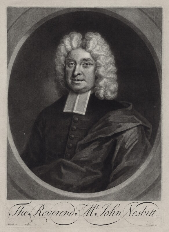 John Nesbitt, by George White, after  John Wollaston, early 18th century - NPG D27502 - © National Portrait Gallery, London