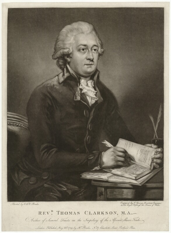 Thomas Clarkson, by John Young, after  Carl Fredrik von Breda, published 1789 - NPG D33312 - © National Portrait Gallery, London