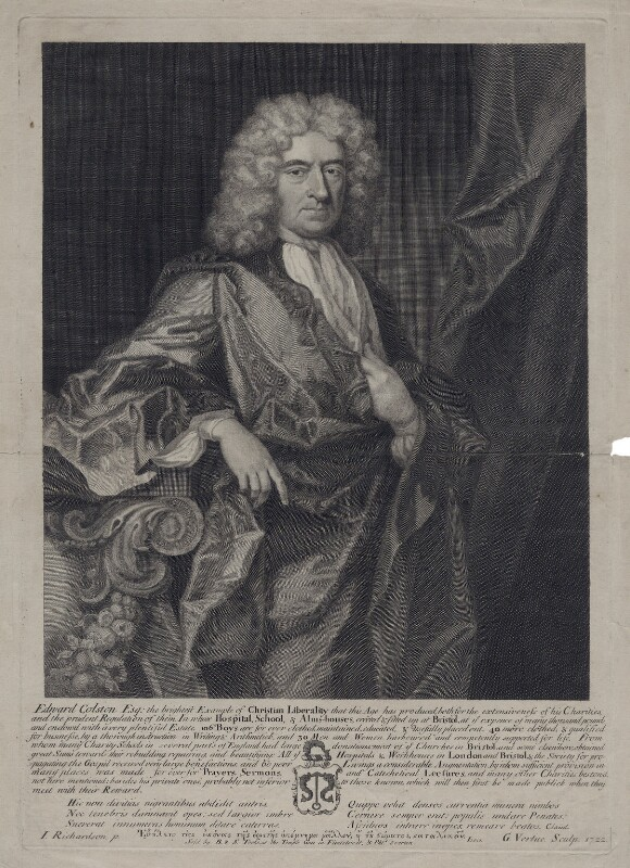Edward Colston, by George Vertue, after  Jonathan Richardson, published 1722 - NPG D27544 - © National Portrait Gallery, London