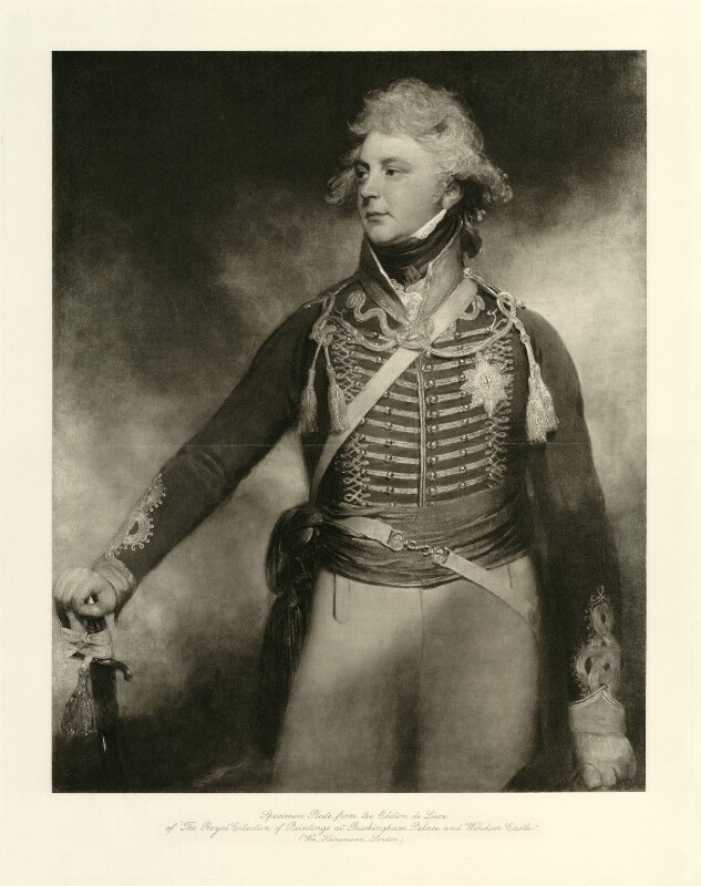 King George IV, published by William Heinemann, after  Sir William Beechey, late 19th or early 20th century (1798) - NPG D33329 - © National Portrait Gallery, London