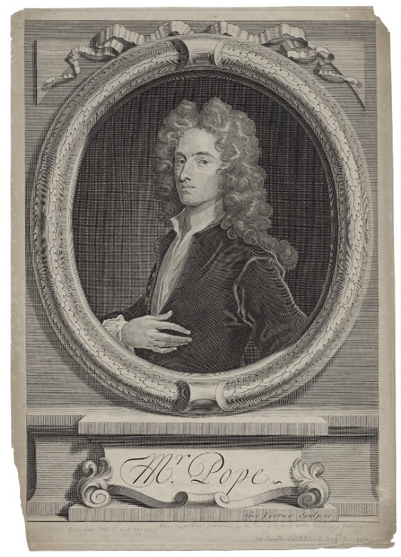 Alexander Pope, by George Vertue, after  Charles Jervas, 1715 (circa 1714) - NPG D27576 - © National Portrait Gallery, London