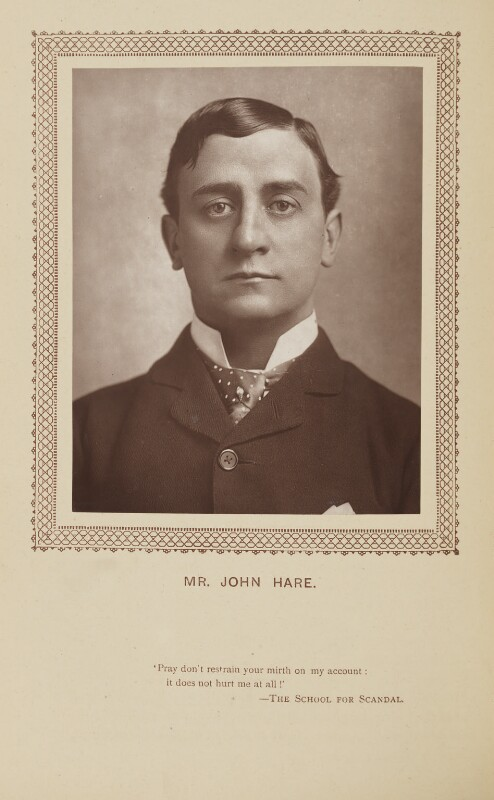 Sir John Hare, by St James's Photographic Co, published by  David Bogue, published 1 September 1883 - NPG Ax9278 - © National Portrait Gallery, London