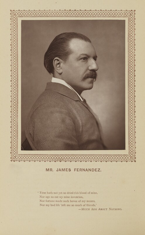 James Fernandez, by St James's Photographic Co, published by  David Bogue, published 1 October 1883 - NPG Ax9280 - © National Portrait Gallery, London