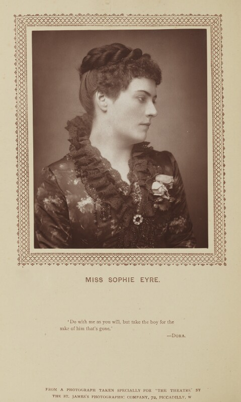 Sophie Eyre (née Ryan), by St James's Photographic Co, published by  David Bogue, published 1 November 1883 - NPG Ax9281 - © National Portrait Gallery, London