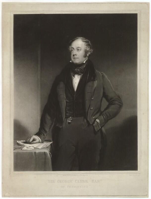 Sir George Clerk, 6th Bt, by Thomas Goff Lupton, after  William Dyce, published 1838 - NPG D33400 - © National Portrait Gallery, London