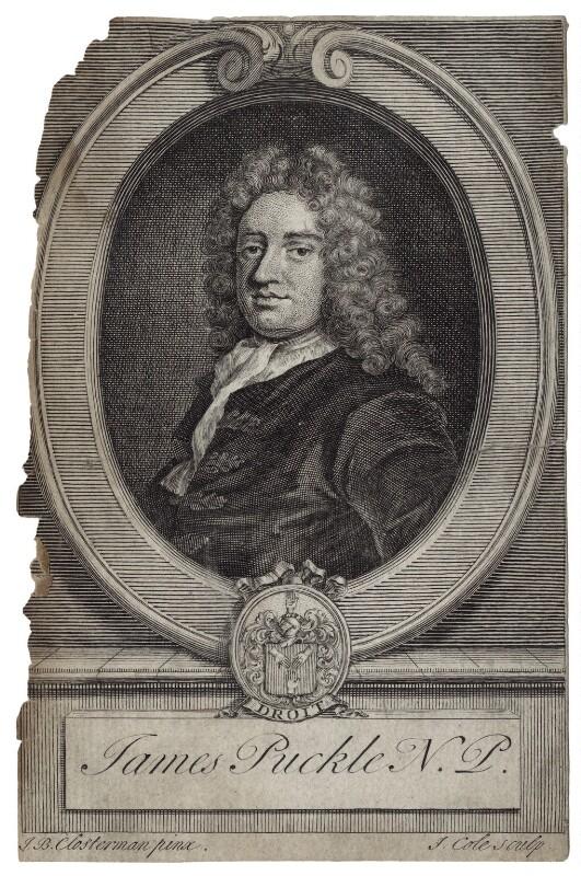 NPG D27610; James Puckle - Portrait - National Portrait Gallery