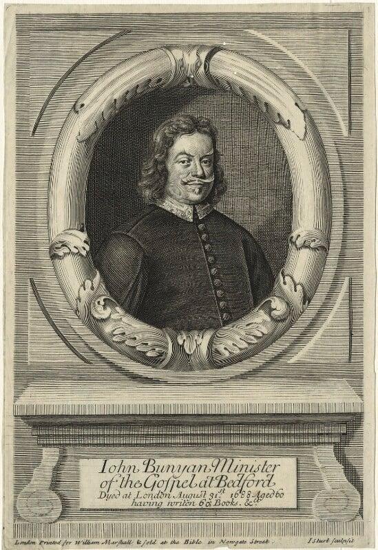 John Bunyan, by John Sturt, published by  William Marshall, circa 1688-1725 - NPG D33426 - © National Portrait Gallery, London