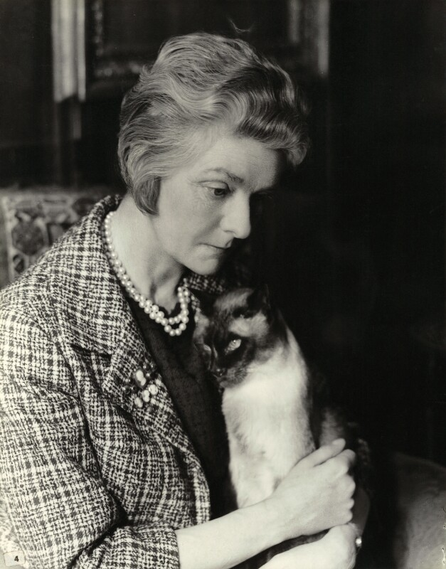 Ethel Margery ('Peggie') (née Davie), Lady Templer, by Madame Yevonde, 1963 - NPG x29812 - © Yevonde Portrait Archive