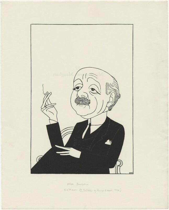 Sir Max Beerbohm, by Powys Evans, 1926 - NPG D33417 - © estate of Powys Evans