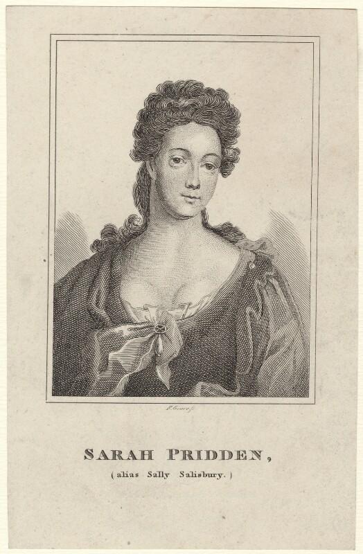Sarah Pridden (Sally Salisbury), by Robert Grave, after  Sir Godfrey Kneller, Bt, published 1819 - NPG D27663 - © National Portrait Gallery, London