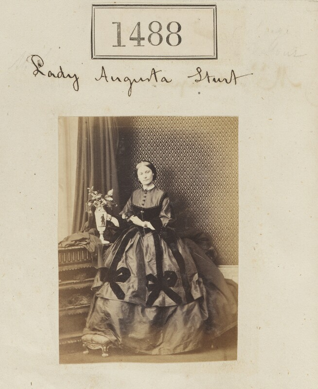 Augusta Sturt (née Lady Bingham), Baroness Alington of Criche, by Camille Silvy, 20 October 1860 - NPG Ax50885 - © National Portrait Gallery, London