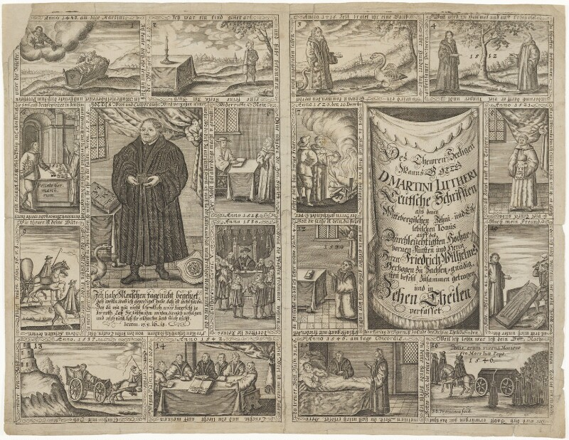 Life of Martin Luther, by Johann-Baptist Paravicini (Paravicinus), circa 1674 - NPG D33437 - © National Portrait Gallery, London
