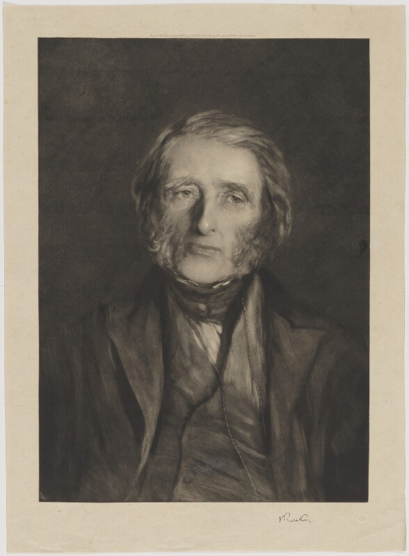 John Ruskin, by Sir Hubert von Herkomer, published by  Fine Art Society Ltd, published 21 July 1880 (1879) - NPG D33439 - © National Portrait Gallery, London