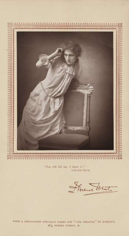 Florence West (Mrs Lewis Waller) as Pauline in 'Called Back', by Herbert Rose Barraud, published by  Carson & Comerford, published 1 September 1885 - NPG Ax29222 - © National Portrait Gallery, London