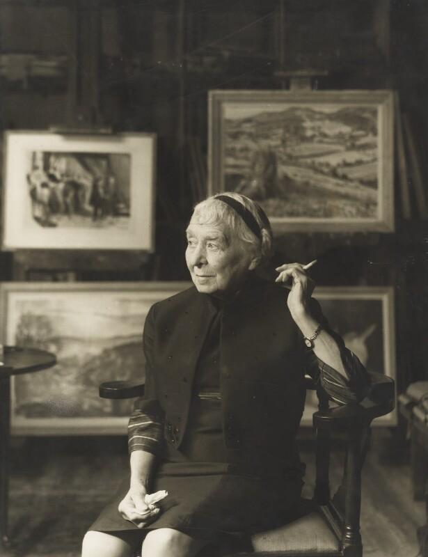 Laura Knight, by Madame Yevonde, 1967 - NPG x26357 - © Yevonde Portrait Archive