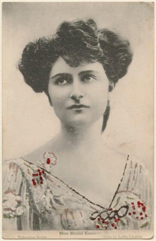 Muriel Kennedy, by Lallie Charles (née Charlotte Elizabeth Martin), circa 1905 - NPG x131849 - © National Portrait Gallery, London