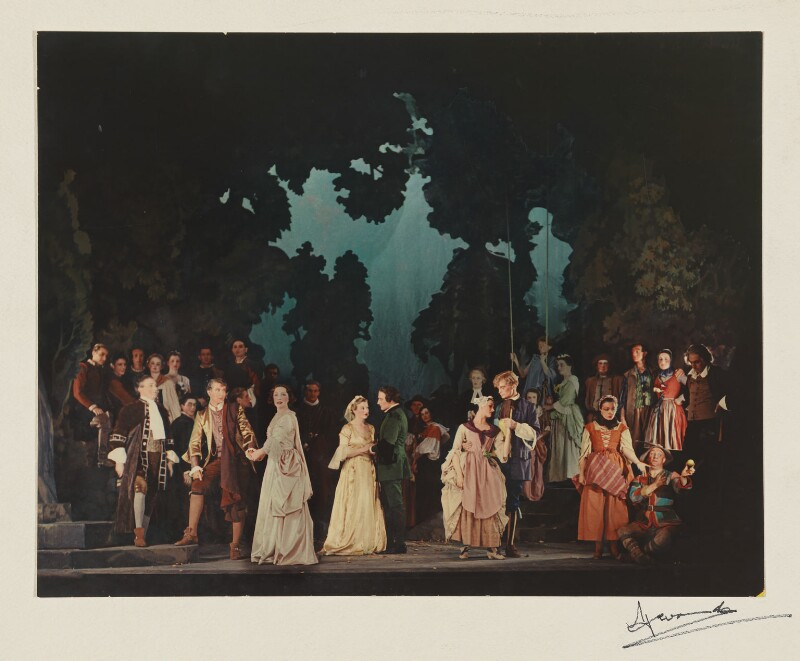 The cast of 'As You Like It', by Madame Yevonde, 1936-1937 - NPG x11654 - © Yevonde Portrait Archive