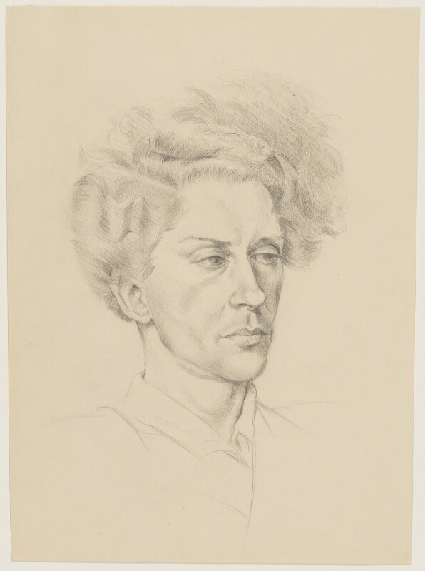 Quentin Crisp, by Barbara Morris, circa 1939 - NPG D33669 - © Barbara Morris / National Portrait Gallery, London