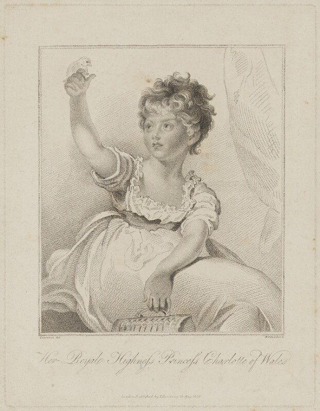Princess Charlotte Augusta of Wales, by Marie Anne Bourlier, published by  Edward Harding, after  Sir Thomas Lawrence, published 19 May 1806 - NPG D33512 - © National Portrait Gallery, London