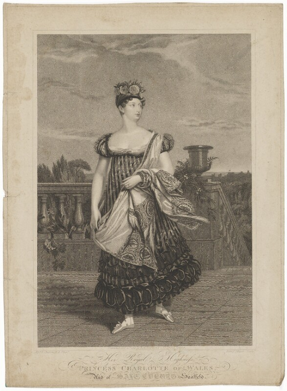 Princess Charlotte Augusta of Wales, by Henry Meyer, published by  Rudolph Ackermann, after  Alfred Edward Chalon, published 21 October 1816 - NPG D33514 - © National Portrait Gallery, London
