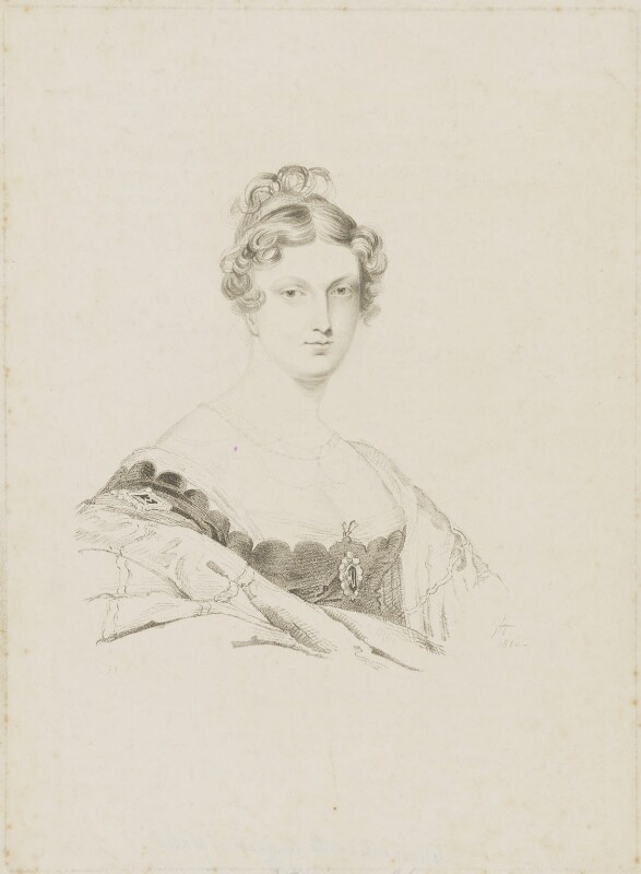 Princess Charlotte Augusta of Wales, by Frederick Christian Lewis Sr, after and published by  Sir George Hayter, 1816 - NPG D33520 - © National Portrait Gallery, London