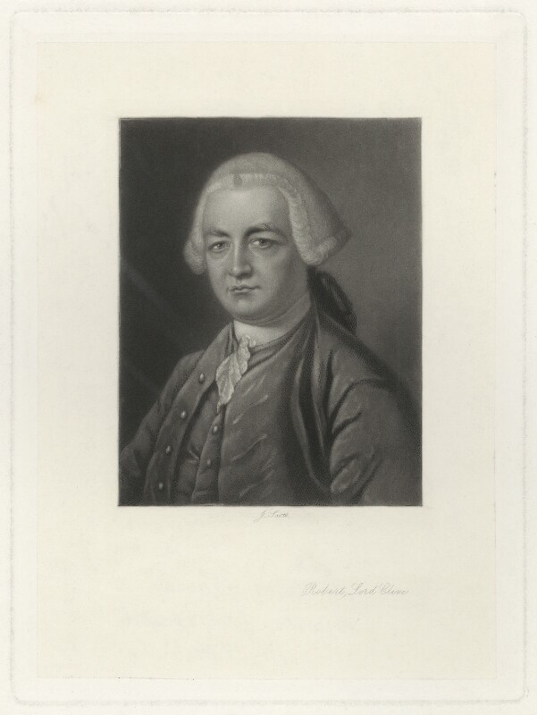 Robert Clive, 1st Baron Clive, by James Scott, after  James Macardell, after  Thomas Gainsborough, published 1871 (1762-1764) - NPG D33527 - © National Portrait Gallery, London