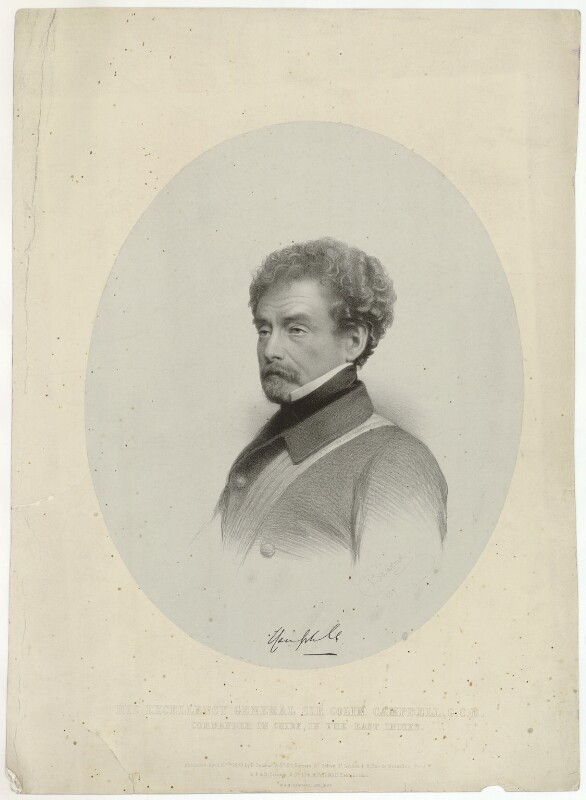Colin Campbell, 1st Baron Clyde, by Charles Baugniet, published 1858 (1857) - NPG D33542 - © National Portrait Gallery, London