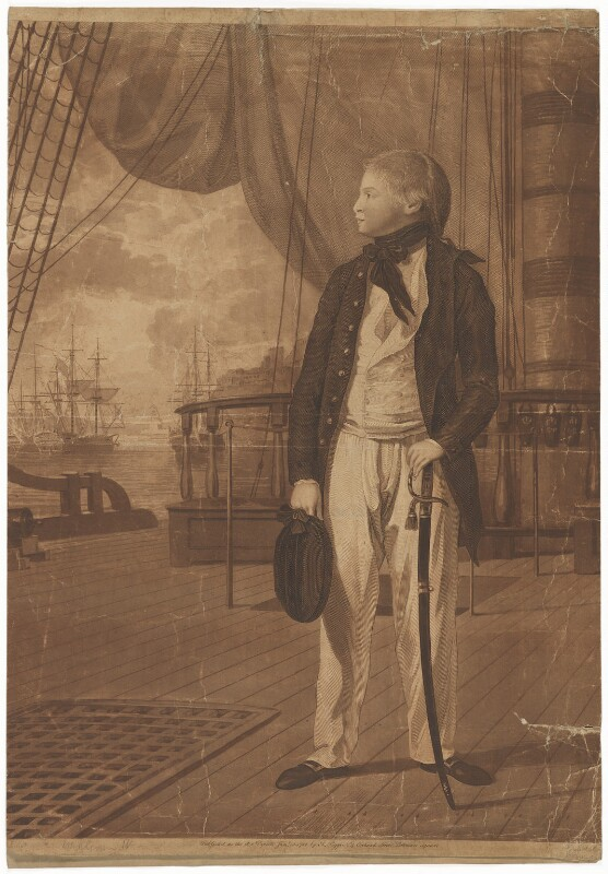 King William IV, by Francesco Bartolozzi, and by  Paul Sandby, published by  Antonio Poggi, after  Benjamin West, published 15 January 1782 - NPG D33545 - © National Portrait Gallery, London