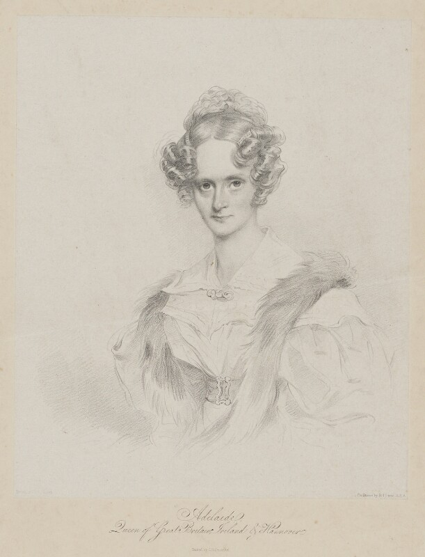 Queen Adelaide (Princess Adelaide of Saxe-Meiningen), by Richard James Lane, 1833 - NPG D33555 - © National Portrait Gallery, London