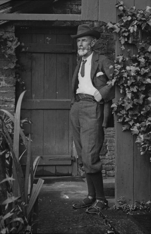 Edward Carpenter, by Alfred Mattison, copied by  Emery Walker Ltd, 1905 - NPG x87106 - © National Portrait Gallery, London