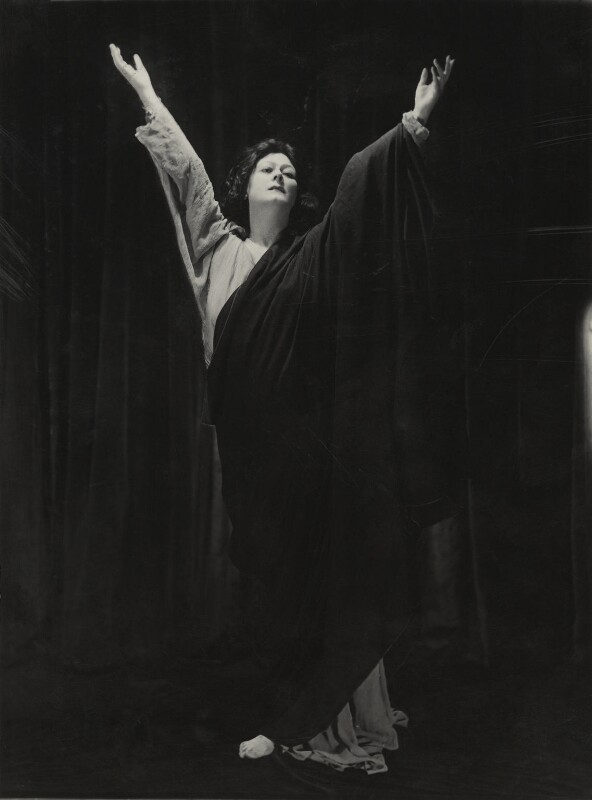 Isadora Duncan, by Bertram Park, 1921 - NPG x131935 - © estate of Bertram Park / Camera Press