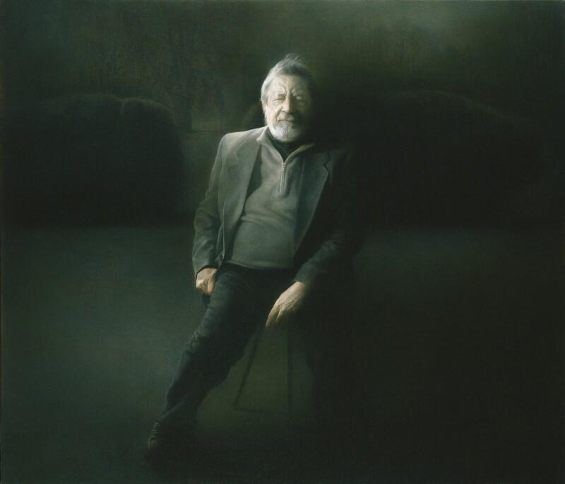 V.S. Naipaul, by Paul Emsley, 2009 - NPG 6875 - © National Portrait Gallery, London