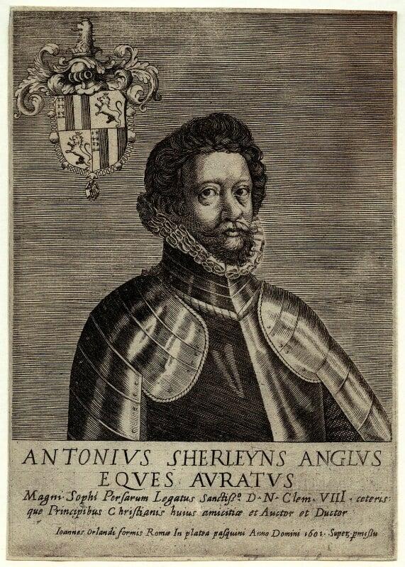 Anthony Sherley (Shirley), by Giovanni Orlandi, 1601 - NPG D33607 - © National Portrait Gallery, London