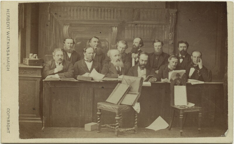 The Jury at the Tichborne Criminal Trial, by Watkins & Haigh, 1873 - NPG Ax28436 - © National Portrait Gallery, London
