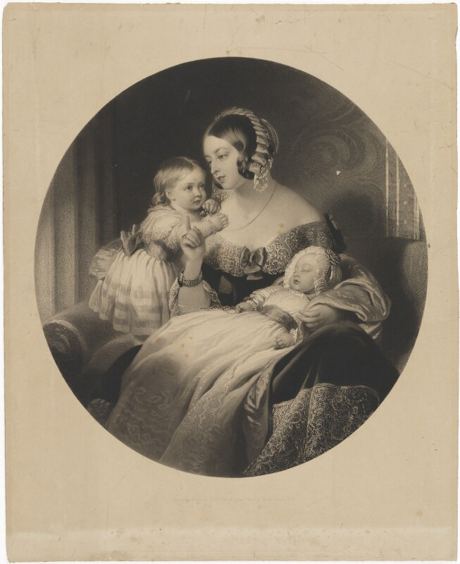 Queen Victoria; Victoria, Empress of Germany and Queen of Prussia; King Edward VII, by Samuel Cousins, published by  Henry Graves & Co, and published by  Goupil & Vibert, and published by  James Ryman, after  Edwin Landseer, published 1844 - NPG D33593 - © National Portrait Gallery, London