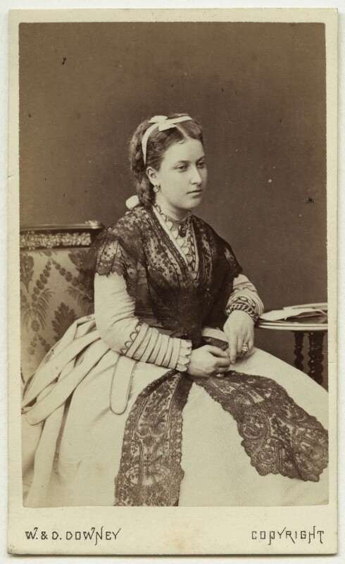 Princess Helena Augusta Victoria of Schleswig-Holstein, by W. & D. Downey, circa late 1860s - NPG Ax46168 - © National Portrait Gallery, London
