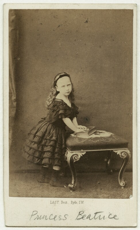 Princess Beatrice of Battenberg, by William George Lacy, circa 1861 - NPG x18896 - © National Portrait Gallery, London