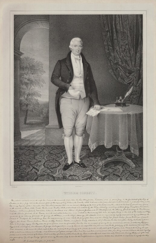 William Cobbett, by Nicolas Eustache Maurin, after  George Cooke, 1831 - NPG D33662 - © National Portrait Gallery, London