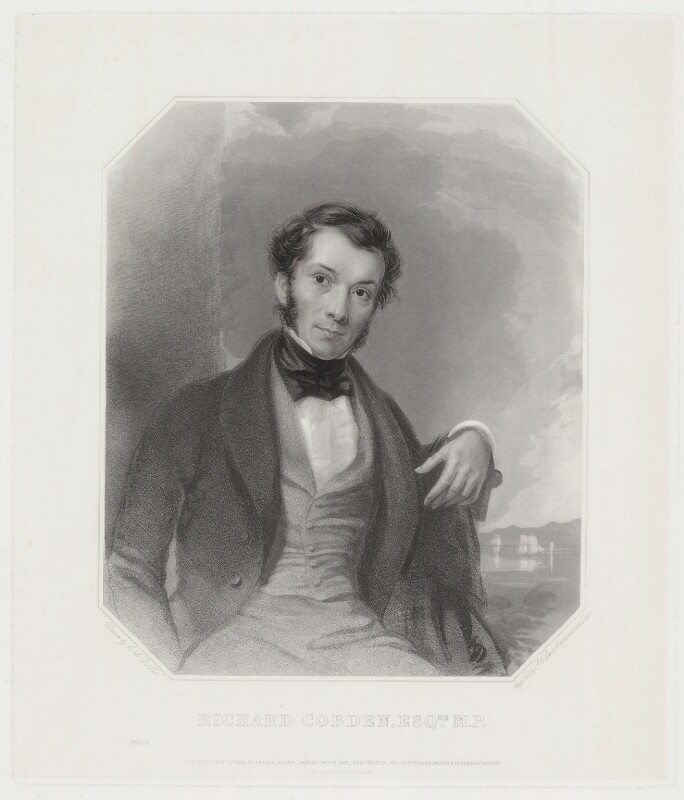 Richard Cobden, by Frederick Christian Lewis Sr, after  Charles Allen Duval, published 1843 - NPG D33664 - © National Portrait Gallery, London