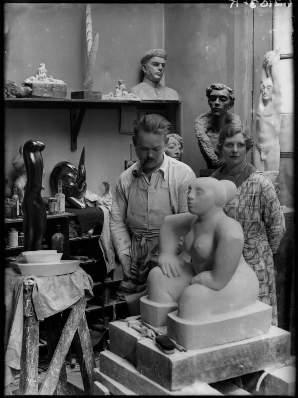 Maurice Lambert; Olga Marie Stuart Lambert (née Morrison), by Yvonne Gregory, 1929 - NPG x132013 - © estate of Yvonne Gregory / Camera Press