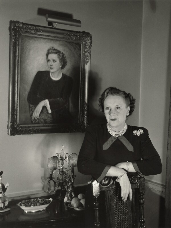 Dame Barbara Hamilton Cartland, by Tom Blau, 1957 - NPG x131947 - © Camera Press / Tom Blau