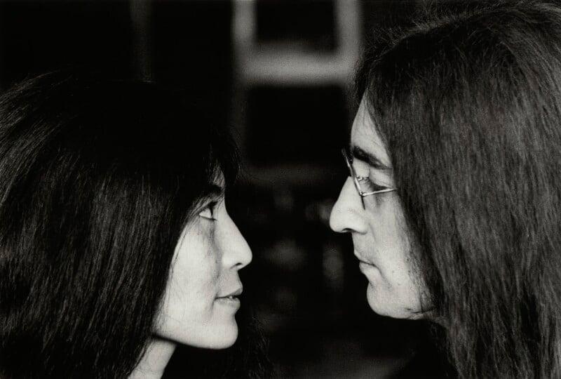 Yoko Ono; John Lennon, by Tom Blau, November 1969 - NPG x131955 - © Camera Press / Tom Blau