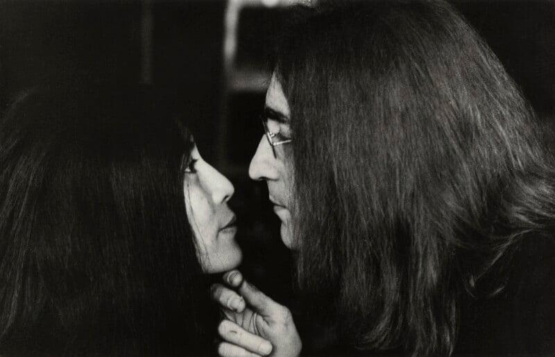 Yoko Ono; John Lennon, by Tom Blau, November 1969 - NPG x131956 - © Camera Press / Tom Blau