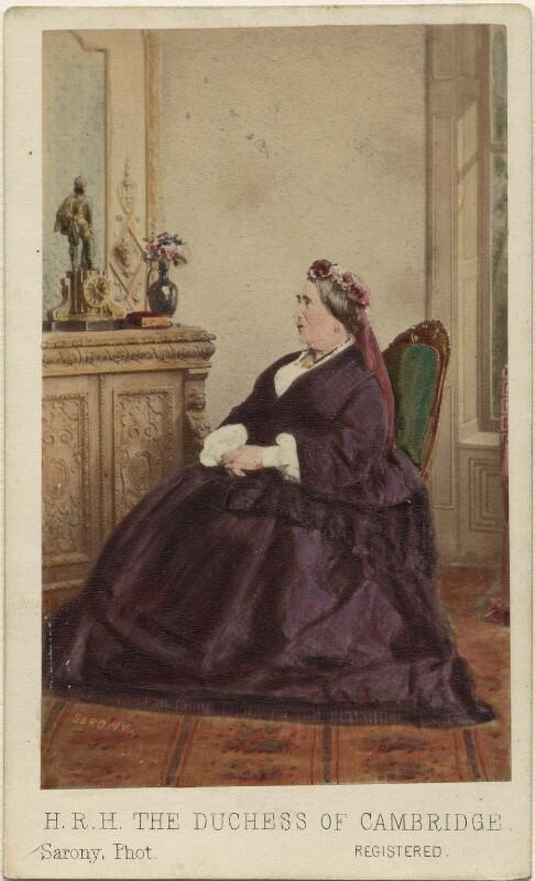 Princess Augusta Wilhelmina Louisa, Duchess of Cambridge, by Oliver François Xavier Sarony, 1864 - NPG Ax46765 - © National Portrait Gallery, London