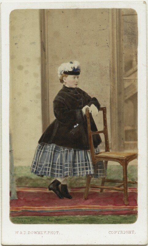 Princess Beatrice of Battenberg, by W. & D. Downey, 1866 - NPG Ax46789 - © National Portrait Gallery, London