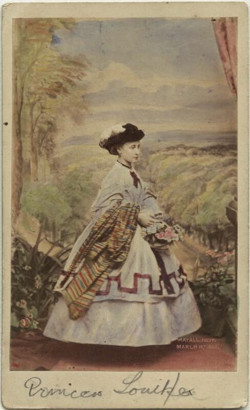 Princess Louise Caroline Alberta, Duchess of Argyll, by John Jabez Edwin Mayall, February 1861 - NPG Ax46712 - © National Portrait Gallery, London