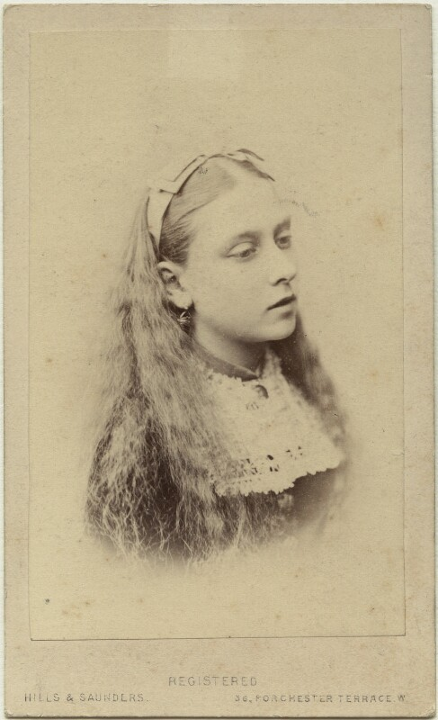 Princess Beatrice of Battenberg, by Hills & Saunders, circa 1870 - NPG x26129 - © National Portrait Gallery, London